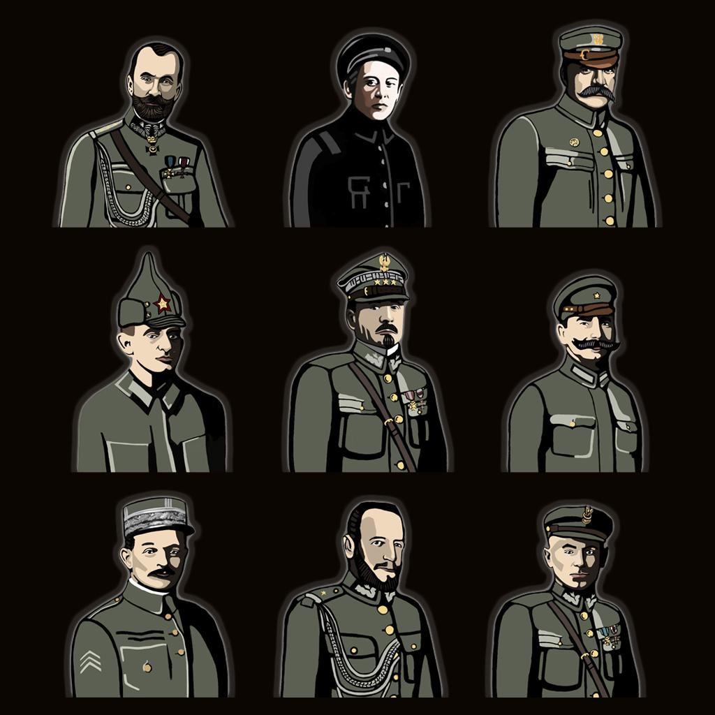 Wojna polsko-bolszewicka - gra strategiczna Postacie Historyczne